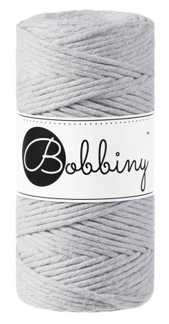 Bobbiny regular 3mm - světle šedá (light grey)