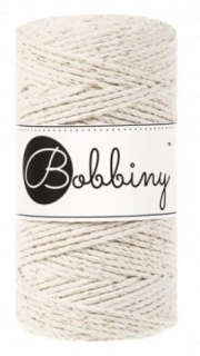 Bobbiny 3PLY regular 3mm - natural se zlatou nitkou