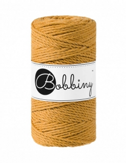 Bobbiny 3PLY regular 3mm - hořčice