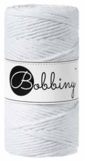 Bobbiny regular 3mm - bílá