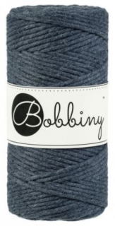 Bobbiny regular 3mm - antracit (charcoal)